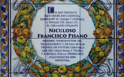 Noticias. Azulejo dedicado a Pisano