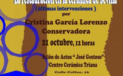 Cita con la restauración cerámica. Domingo 21 de octubre