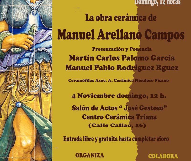 Manuel Arellano Campos. El próximo domingo tercera cita del Ciclo de Otoño.