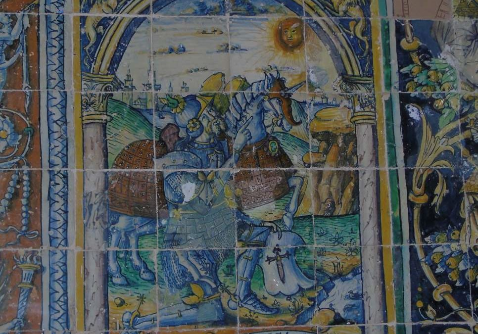 Pieza del mes. Febrero 2014. Pelay Pérez Correa y Juan Riero en el retablo de Niculoso Pisano de la Iglesia de Tentudía. Andrés González Ladera.