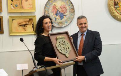 Sevilla. Inauguración de la exposición de Isabel Parente Rioja.