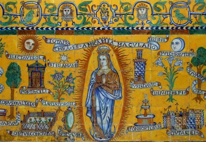 Pieza del mes. Mayo 2014. Frontal de altar en capilla lateral de la iglesia de Santa María de Carmona. Sevilla. Martín Carlos Palomo García.
