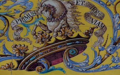 Pieza del mes. Octubre 2015. La azulejería de Arellano en el Palacio de los Condes de Benavente de Sevilla. Jesús Marín García.