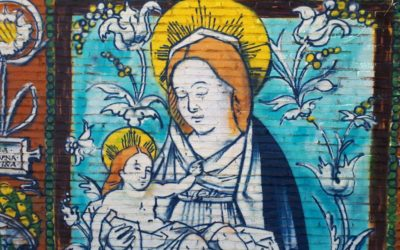 Virgen con Niño. Un grafiti con sabor a Pisano.