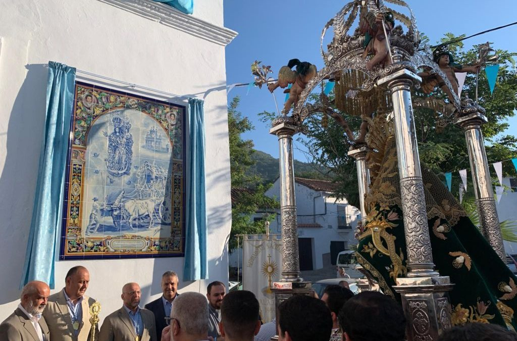 Alájar (Huelva). Inaugurado un nuevo retablo cerámico de la Patrona.