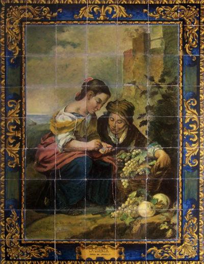 La pequeña vendedora de fruta. Sevilla.