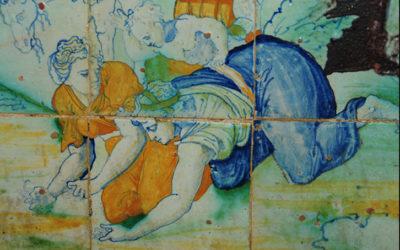 Pieza del mes. Enero 2020. Escena de la Caída del Maná. Frontal de altar y azulejería en la capilla de la Asunción de la Mezquita-Catedral de Córdoba. Alfonso Pleguezuelo Hernández.