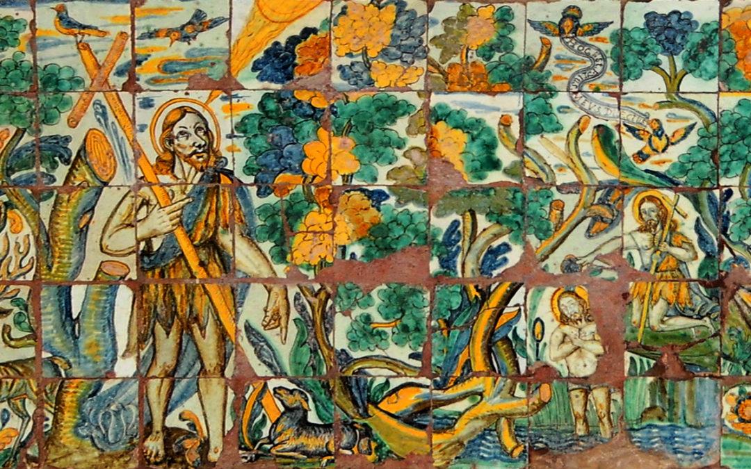 Pieza del mes. Febrero 2020. Panel de San Juan Bautista. Convento de Santo Domingo. Lima. Perú. Alfredo Rafael García Portillo.