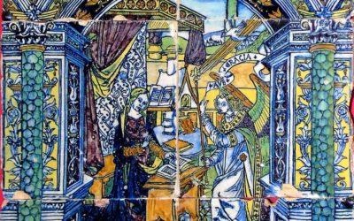 Pieza del mes. Abril 2020. De Triana a Évora: el rastro de Niculoso en Portugal. El panel de la Anunciación del Museo Regional de Évora. Alfonso Pleguezuelo Hernández.