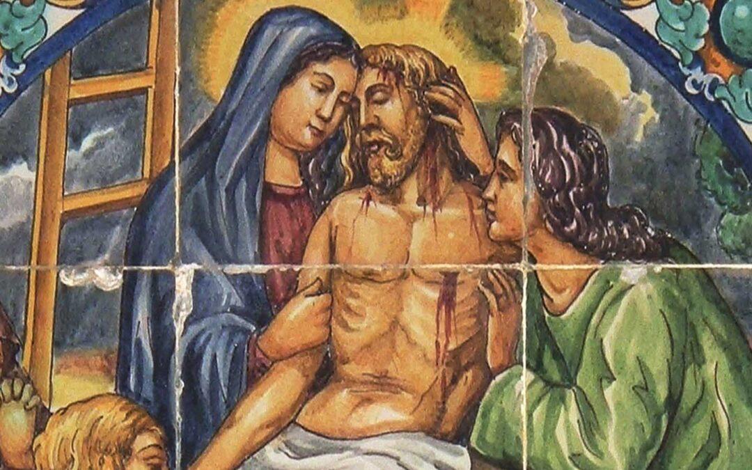 Pieza del mes. Mayo 2020. El Vía Crucis cerámico de Kiernam para Villaverde del Río. Alfredo García Portillo.