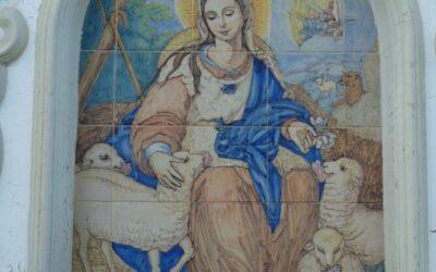 La hermandad de la Pastora de Santa Marina logra hacerse con un retablo cerámico que reproduce la pintura de Alonso Tovar