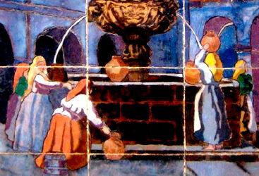 Pieza del mes. Julio 2020. Escenas de Galicia de Mensaque en la Alameda de Pontevedra. Manuel Pablo Rodríguez Rodríguez