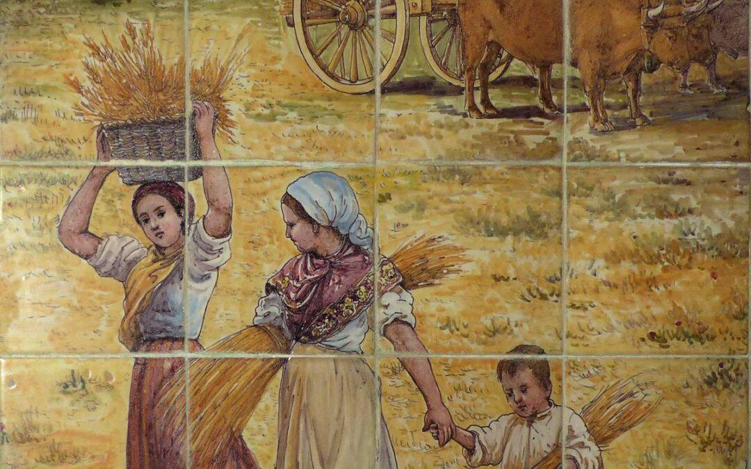 Pieza del mes. Octubre 2020. El panel de la siega en la Hacienda Buena Esperanza. Jesús Marín García.