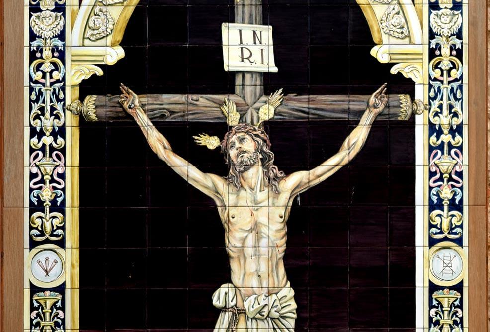 Bendición de un retablo cerámico del Santísimo Cristo de la Expiración en Arjona.