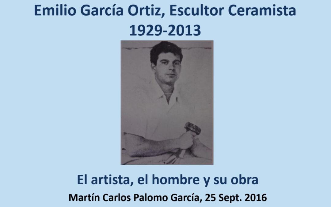 Videoconferencia. Emilio García Ortiz. Escultor ceramista. Martín Carlos Palomo García.