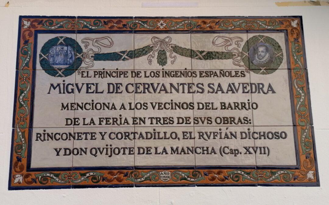 Sevilla. Descubierto un azulejo cervantino en el barrio de la Feria.